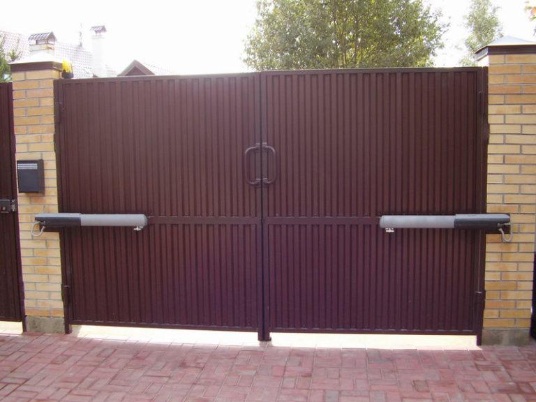 ворота гаражные металлические распашные цена сергиев посад